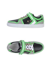 Les Hommes Low Tops And Trainers Light Green