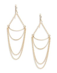 Panacea Cresent Chain Link Drop Earrings Gold