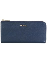 Furla Zip Around Wallet Blue