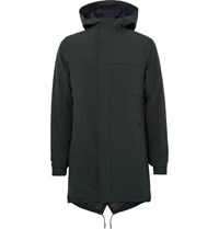 Nn.07 Nn07 Winter Fisher Waterproof Shell Hooded Parka Dark Green
