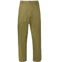 Studio Nicholson Buzzard Garment Dyed Cotton Trousers Army Green