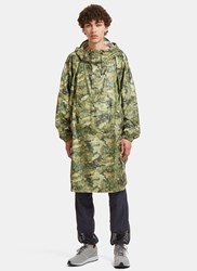 Snow Peak Camo Printed Artwork Poncho Jacket Green