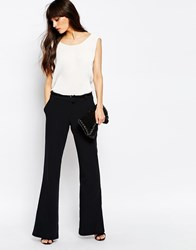 Just Female Town Flared Trousers In Blue J 373 Blue Nights