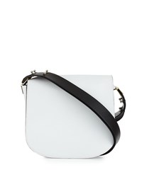 Cnc Costume National Flap Front Leather Shoulder Bag Optic White Costume National