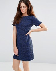 Sugarhill Boutique Dora Sketchy Jacquard Dress Black Blue
