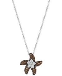 Le Vian Chocolatier Diamond Starfish Pendant Necklace 3 8 Ct. T.W. In 14K White Gold