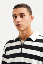 Urban Outfitters Uo Zip Rugby Shirt Black Multi