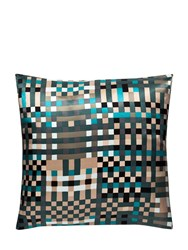 Ivano Redaelli Baker Printed Silk Pillow Blue White