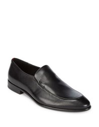 Hugo Boss Point Toe Leather Loafers Black