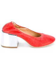 Maison Martin Margiela Mm6 Metallic Heel Pumps Red