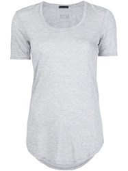 Atm Anthony Thomas Melillo Curved Hem T Shirt Grey