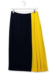 Wool Midi Kilt Skirt By Boutique Navy
