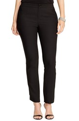 Plus Size Women's Lauren Ralph Lauren Tuxedo Stripe Straight Leg Pants