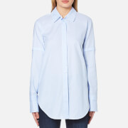 Helmut Lang Women's Tuxedo Shirt Light Blue