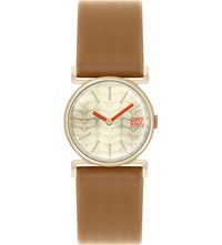 Orla Kiely Ok2050 Cecilia Leather And Stainless Steel Watch Champagne