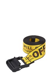 Off White 35Mm Logo Industrial Nylon Belt Yellow