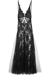 I.D. Sarrieri Fatal Attraction Chantilly Lace Nightdress Black