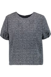 Raoul Cropped Tweed Top Gray