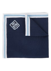 Corneliani Navy Fine Knit Pocket Square