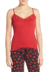 Pj Salvage Ribbed Camisole Red