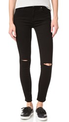 7 For All Mankind B Air Ankle Skinny Jeans Black