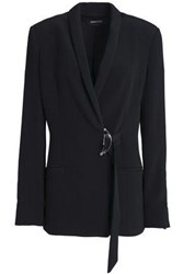 Cushnie Et Ochs Bruna Buckled Stretch Crepe Blazer Black