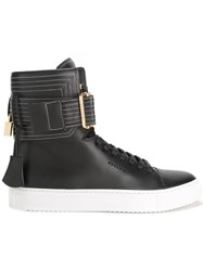 Buscemi Ankle Strap Hi Top Sneakers Black