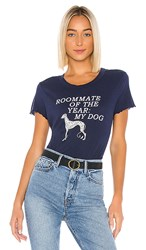 Wildfox Couture Roommate Of The Year Sydney Tee In Navy. Oxford
