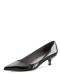 Stuart Weitzman Low Heel Patent Pump Black