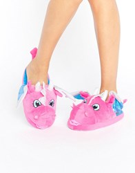 Asos Niles Dragon Slippers Pink Blue