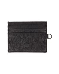 Armani Collezioni Black Grained Leather Card Wallet