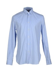 Mp Massimo Piombo Shirts Shirts Men Sky Blue