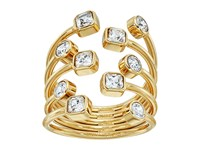 Michael Kors Mixed Shape Cz Set Stone Statement Open Statement Ring Gold Ring