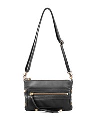 Linea Pelle Walker Leather Crossbody Black