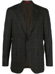 Isaia Classic Single Breasted Blazer Black