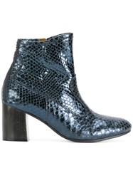 Calleen Cordero Tolosa Boots Leather Caviar Leather Blue