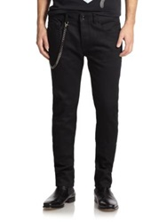 Diesel Black Gold Straight Leg Biker Jeans Black