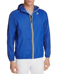 K Way Zip Windbreaker Jacket Royal Blue