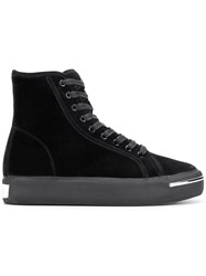 Alexander Wang Pia Hi Top Sneakers Black