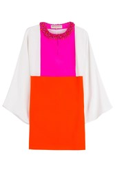Emilio Pucci Jeweled Neck Silk Tunic Multicolor