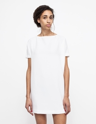Kaarem Angle Mini Dolman Dress White