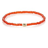 Luis Morais Men's Horus Eye Etched Bead Bracelet Red