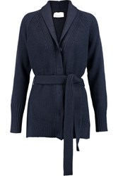 3.1 Phillip Lim Ribbed Knit Wool Cardigan Blue