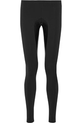 Norma Kamali Lame Trimmed Stretch Jersey Leggings Black