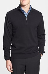 Cutter And Buck Men's 'Broadview' Cotton Half Zip Sweater Black