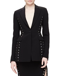 Altuzarra Merrie Lace Up Sided Long Blazer Black