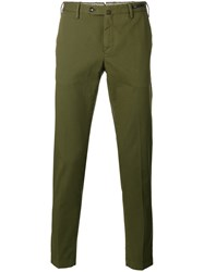 Pt01 Tapered Cropped Trousers Green