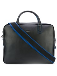 Furla Shoulder Strap Laptop Bag Men Leather One Size Blue
