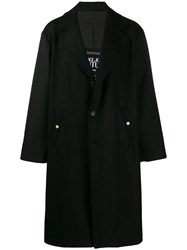 Versace Jeans Couture Single Breasted Trench Coat Black