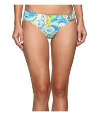 Lauren Ralph Lauren Carnival Paisley Ring Hipster Bottom Blue Women's Swimwear